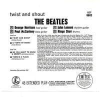 THE BEATLES Twist And Shout EP Vinyl Record 7 Inch Parlophone...